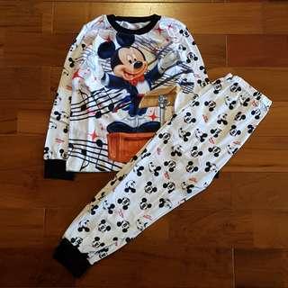 Pyjamas mickey murah