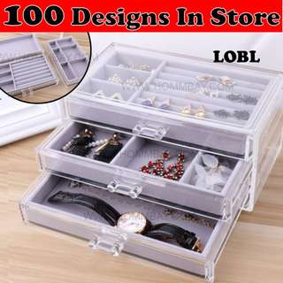 Jewellery Jewelry Watch Sunglass Accessory Accessories Rings Bracelets Earrings Organizers Organisers Storage Box