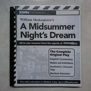CliffNotes A Midsummer Night's Dream