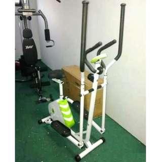 Sepeda Statis Treadmill Eliptical 2in1 Alat Fitness Bersepeda Pembakar Kalori