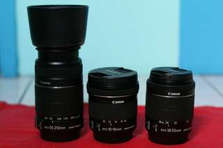 EF-S 55-250mm f/4-5.6 IS II with hood and box