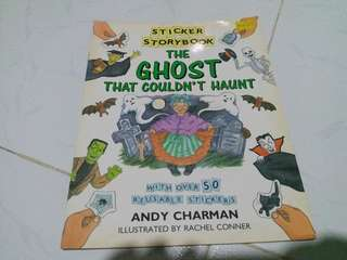 Preloved Book💖 Sticker storybook The ghost that couldn't haunt