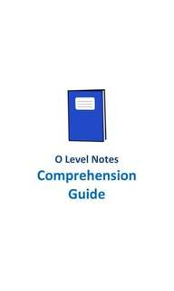 2017 CCHM O level English Comprehension Guide / comprehension answering technique / O level English 1128 Syllabus Paper 2 / secondary 1 to 4 / school notes / chung cheng high / not exam paper