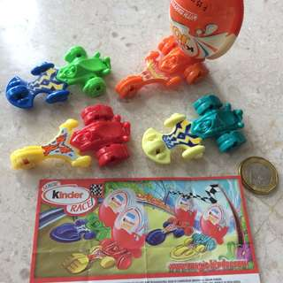 Race car toys from Kinder Surprise