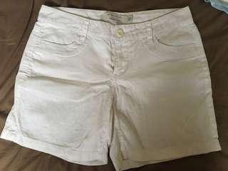 Giordano white linen shorts