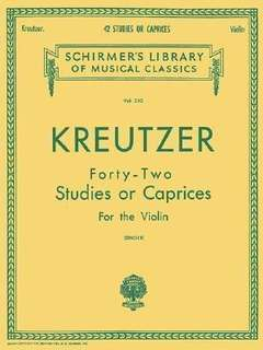 Rodolphe Kreutzer : Forty-Two Studies Or Caprices (Violin)