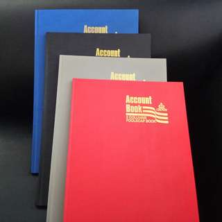 CROWN Hardcover Account Books. Brand new, never used