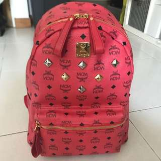 Authentic MCM Hot Pink Backpack
