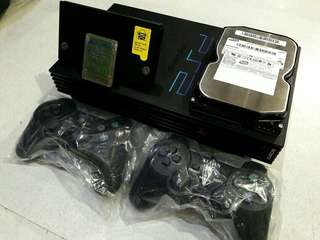 Ps2 Playstation 2 Fat 250gb Hdd With 500 Games installed Mcboot  with Family Computer