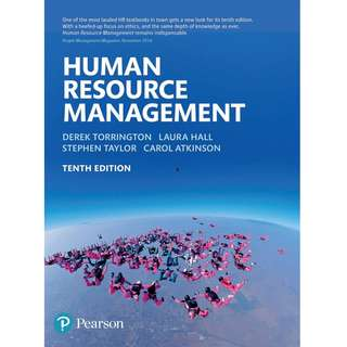 Human Resource Management 10th Tenth Edition by Derek Torrington, Laura Hall, Stephen Taylor, Carol Atkinson - Pearson