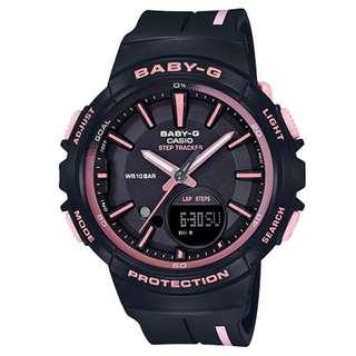 CASIO Baby-G BGS-100 series Step Tracker 黑粉紅色 BGS-100RT 跑步專用 計步器 BabyG BGS100RT