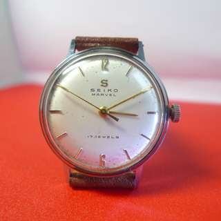 1957s' Vintage Seiko Marvel , very good running ,  keeps time and nice appearance....
