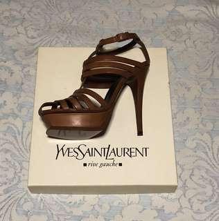 Saint Laurent Brown Strappy Heels (nego)