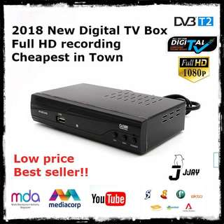 NEW 2018 MODEL! DVB-T2 Mediacorp Digital Receiver TV box. Record shows and wifi enabled.