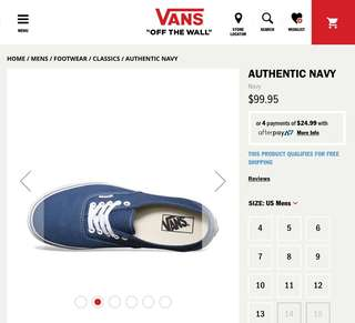 Authentic Vans Off The Wall