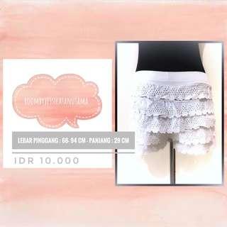 Celana Model Rok Putih