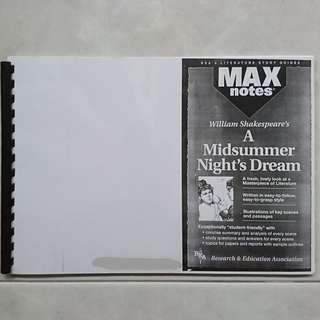 Max notes A Midsummer Night's Dream