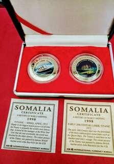 1998年發行鐵達尼號紀念幣