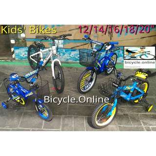 "Kid's Bikes $99 - $179 ✩ BMX, Multi-Speeds MTB etc., available in 12, 14, 16, 18, 20 & 24"" ✩ Brand New Bicycles"