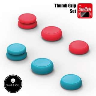 Skull & Co Thumb Grip Set - Neon Blue+Red