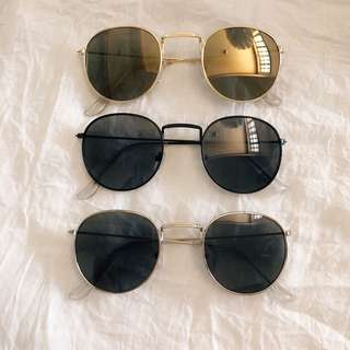 Round Metal Sunglasses Ray-Ban Inspired
