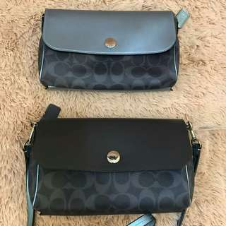 Coach Reversible Crossbody (can be worn both sides) Signature Denim