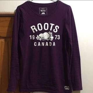 🚚 Roots深紫色長T#幫你省運費