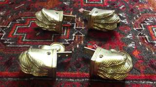 Antique brass claw casters