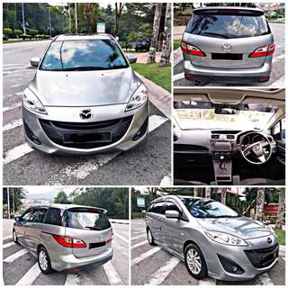 SAMBUNG BAYAR/CONTINUE LOAN  MAZDA 5 AUTO 2.0 YEAR 2012/2013 BALANCE 4 YEARS ROADTAX VALID TIPTOP CONDITION  DP KLIK wasap.my/60133524312/mazda5