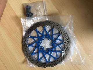 Blue disc brake rotors