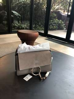 Chloe motty grey small faye handbag wallet