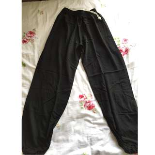 Black long exercise/lounging pants