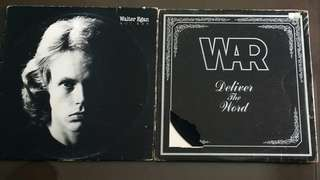 WAR ● WALTER EGAN deliver the word / not shy ( buy 1 get 1 free )(moving out sale) Vinyl record