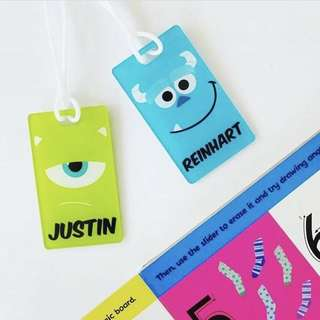 🚚 CUSTOM BAGTAG mike wazowski sulley monster inc