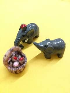 🆕 elephant set mini figurines for terrarium