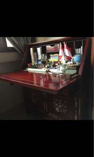 Rosewood Cabinet cum Study Table