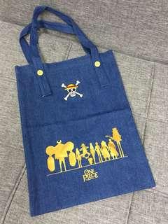 One Piece 海賊王 牛仔 環保袋 側揹袋