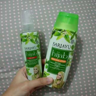 Sariayu Hijab Hair Tonic Lotion dan Hair Mist