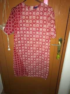 Dress Batik Peach danar hadi
