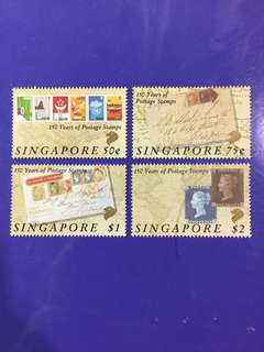 Singapore 1990 150 Years of PostAge Stamps Stamp Set