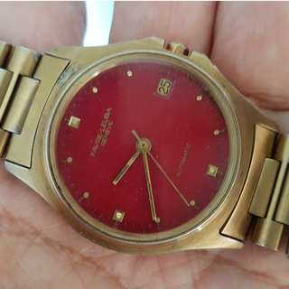 Rare Old Watch, Vintage Men Favre-Leuba, Geneve Automatic Wrist Watch, Micro-Rotor Movement, Switzerland, Limited Edition, Goldfilled Casing with Original Favre Leuba Band, Calibre 2538, 22 Jewels, For Collector