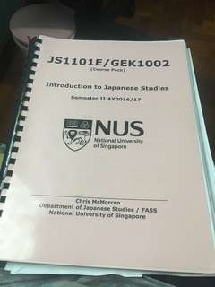 NUS introduction to Japanese studies (JS1101E)