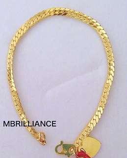 Kids cowboy bracelet 916 gold Mbrilliance