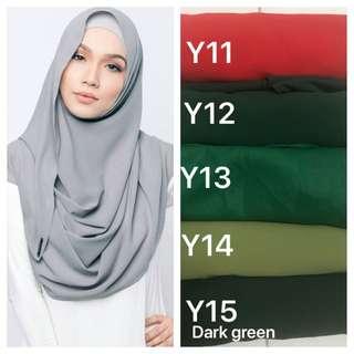 Instant shawl Tudung hijab
