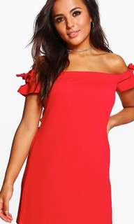 BOOHOO RED DRESS