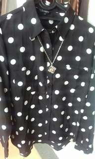 Blus polkadot hitam putih (no deffect) The Executive (ori)