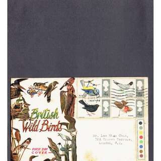 FDC #468  British Wild Birds 1966 conditions of stamps and cover as in picture