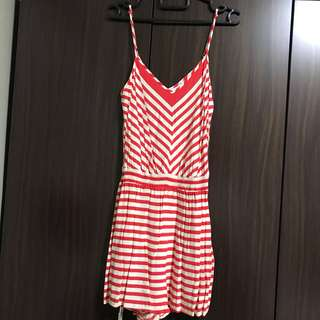 Forever21 red-striped romper