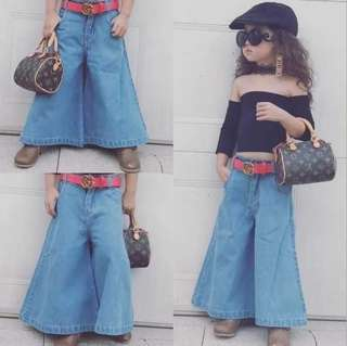 Kids Wide Leg Pants
