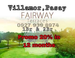 CONDO FOR SALE IN VILLAMOR AIRBASE DMCI FAIRWAY TERRACES